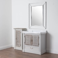 Image 8 - The Liberty Collection Vanity Sink Unit With Louvered Doors
