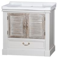 Image 1 - The Liberty Collection Vanity Sink Unit With Louvered Doors