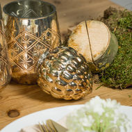 Image 3 - The Noel Collection Burnished  Acorn Hanging Bauble