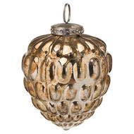 Image 1 - The Noel Collection Burnished  Acorn Hanging Bauble