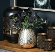 Image 2 - The Noel Collection Burnished Etched Candle Holder Large