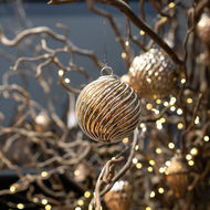 Image 3 - The Noel Collection Burnished Jewel Swirl Large Bauble