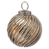 Image 1 - The Noel Collection Burnished Jewel Swirl Large Bauble
