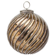 Image 1 - The Noel Collection Burnished Jewel Swirl Small Bauble