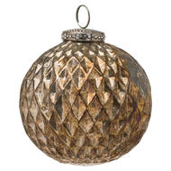 Image 1 - The Noel Collection Burnished  Large Honeycomb Bauble
