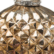 Image 2 - The Noel Collection Burnished  Textured Large Hanging Bauble