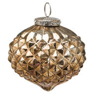 Image 1 - The Noel Collection Burnished  Textured Large Hanging Bauble
