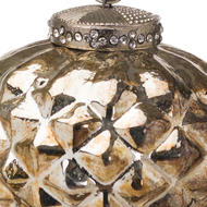 Image 2 - The Noel Collection Burnished  Textured Small Hanging Bauble