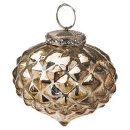 Image 1 - The Noel Collection Burnished  Textured Small Hanging Bauble