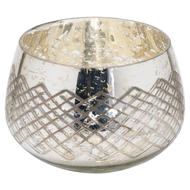 Image 1 - The Noel Collection Large Silver Foil Candle Holder