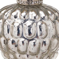 Image 2 - The Noel Collection Silver Acorn Hanging Bauble