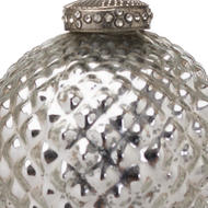 Image 2 - The Noel Collection Silver Christmas Bauble