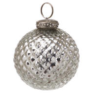 Image 1 - The Noel Collection Silver Christmas Bauble