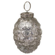 Image 1 - The Noel Collection Silver Hanging Acorn