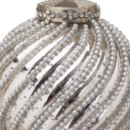 Image 2 - The Noel Collection Silver Jewel Swirl Large Bauble