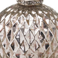 Image 2 - The Noel Collection Silver Large Honeycomb Bauble