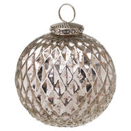 Image 1 - The Noel Collection Silver Large Honeycomb Bauble