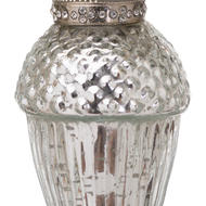 Image 2 - The Noel Collection Small Silver Hanging Acorn Decoration