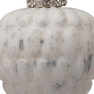 Image 2 - The Noel Collection White Acorn Hanging Bauble
