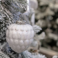 Image 3 - The Noel Collection White Acorn Hanging Bauble