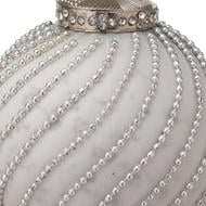 Image 2 - The Noel Collection White Jewel Swirl Large Bauble