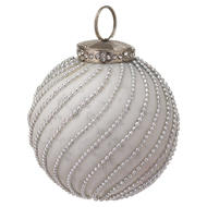 Image 1 - The Noel Collection White Jewel Swirl Large Bauble