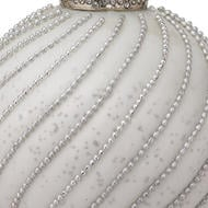 Image 2 - The Noel Collection White Jewel Swirl Small Bauble