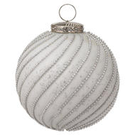 Image 1 - The Noel Collection White Jewel Swirl Small Bauble