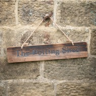 Image 6 - The Potting Shed Rustic Wooden Message Plaque