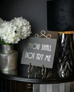 Image 2 - Thou Shall Not Try Me Silver Foil  Plaque