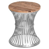 Image 1 - Urban Side Table With Reclaimed Wooden Top Plate