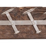 Image 2 - Wall Mounted Reclaimed Timber 6 Bottle Wine Rack