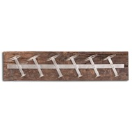 Image 1 - Wall Mounted Reclaimed Timber 6 Bottle Wine Rack