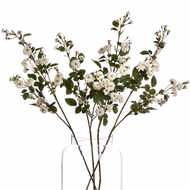 Image 4 - White Artificial Wild Meadow Rose 74cm