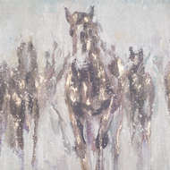 Image 2 - Wild Horses On Cement Board With Frame