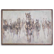 Image 1 - Wild Horses On Cement Board With Frame