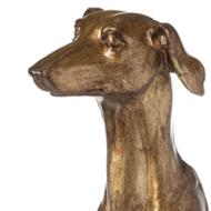 Image 2 - William The Whippet Table Lamp With Teal Velvet Shade