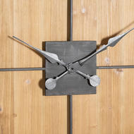 Image 3 - Williston Square Large Wooden Wall Clock