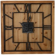 Image 1 - Williston Square Large Wooden Wall Clock
