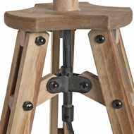 Image 2 - Wooden Tripod Table Lamp